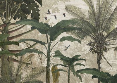papel pintado de hojas tropicales