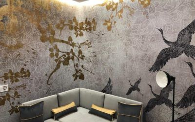 Golden wallpapers for home decor
