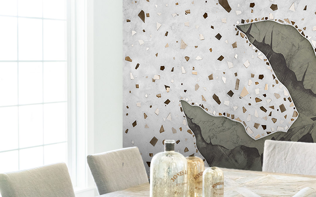 Three areas of a restaurant where to place wallpaper